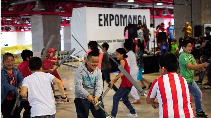 Niños jugando en Expomanga (Archivo)