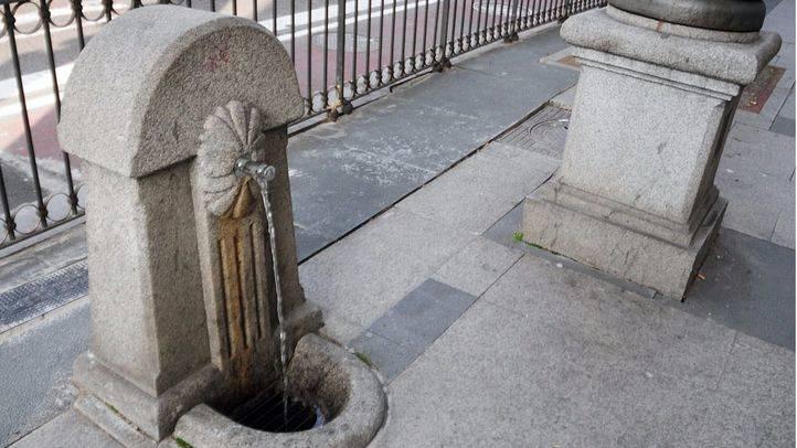 Fuente de grifo en la calle Alcalá-Cibeles (Archivo)