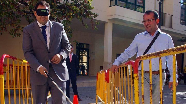 Madrid se mete en la piel de las personas ciegas