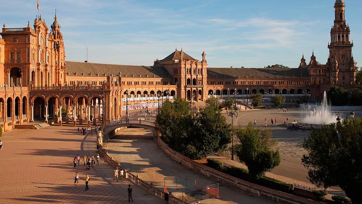 Edificio Antigua Capitanía General de Sevilla en la Plaza de España