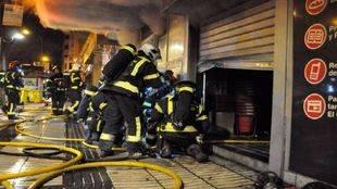 Un incendio calcina una planta de un supermercado de Goya