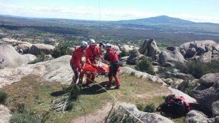 Rescatan a una excursionista con el tobillo roto en La Pedriza