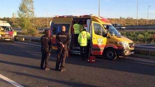 Un motorista herido por una caída frente a Ifema