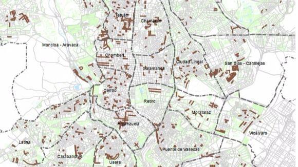 El 'mapa de las cacas' de Madrid
