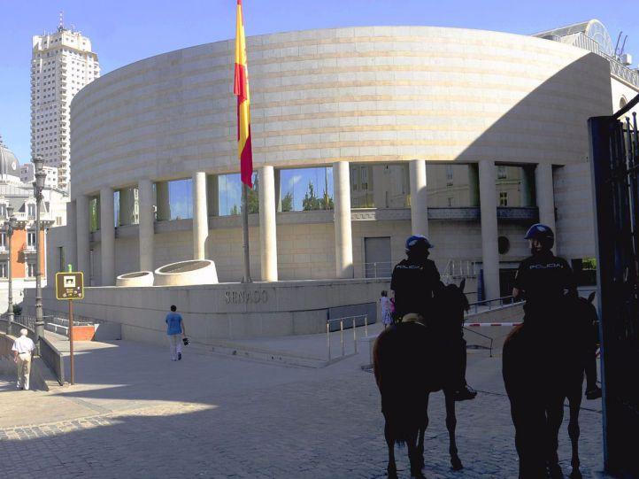 Entrada de calle Bailén del Senado.