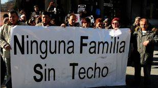 Concentración STOP desahucios en Plaza Castilla (archivo)