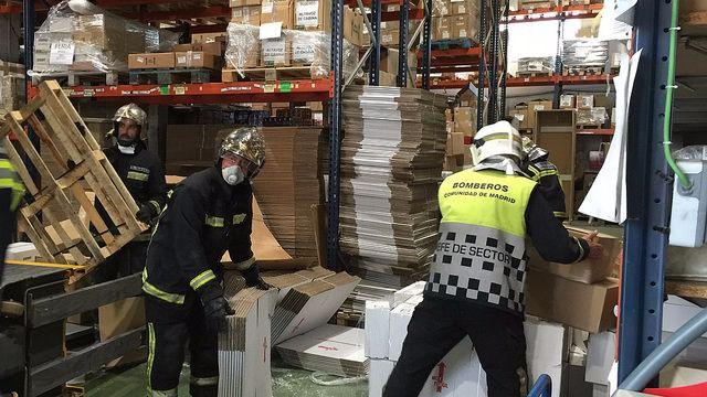 Accidente laboral en un almacen de electrónica en la calle calidad en Getafe. (Archivo)