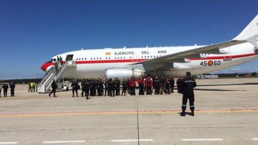Aterrizaje en la Base Aérea de Torrejón de Ardoz