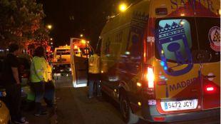 Accidente de moto en San Blas