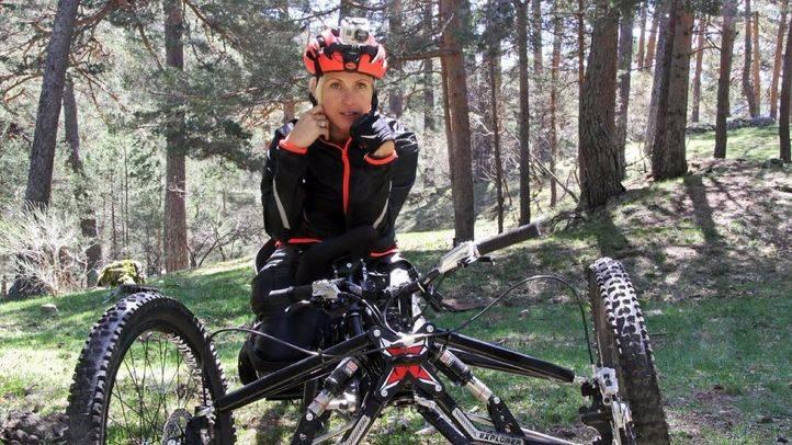 Gema Hassen-Bey, medallista paral�mpica en esgrima, se prepara para subir el Kilimanjaro
