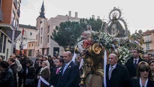 Procesi�n de la Virgen de nuestra Se�ora de los �ngeles en Getafe.