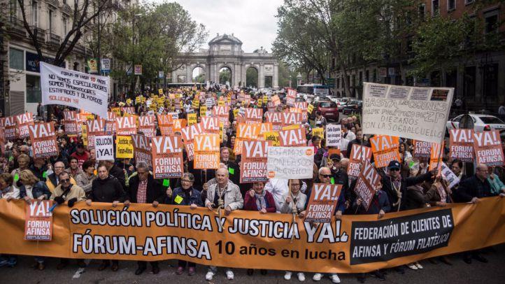 Manifestación de afectados por Fórum y Afinsa