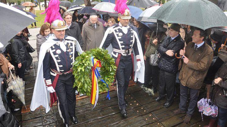 Los judíos rememoran el Holocausto en el parque Juan Carlos I