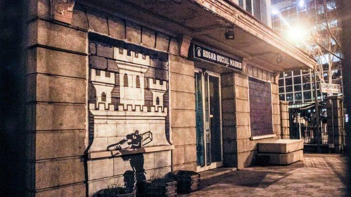 El Hogar Social Madrid ha okupado la antigua sede del No-Do, un edificio de RTVE, en la calle Joaquín Costa, frente a la embajada de Israel.