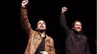 Pablo Iglesias y Alberto Garzón confirman el pacto de coalición entre Podemos e IU para las elecciones del 26J (Archivo)