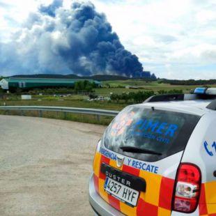Incendio en Seseña, desde Pinto
