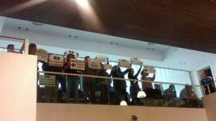 Protesta de trabajadores municipales de Leganés