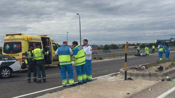 Dos hombres fallecen en un accidente de moto en Torrejón