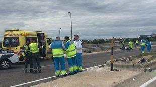 Accidente de moto en Torrejón de Ardoz
