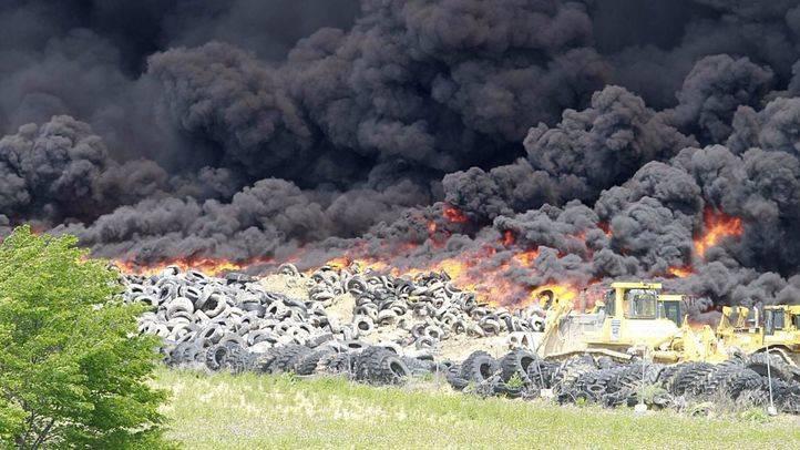 El incendio de Seseña cumple su segundo día