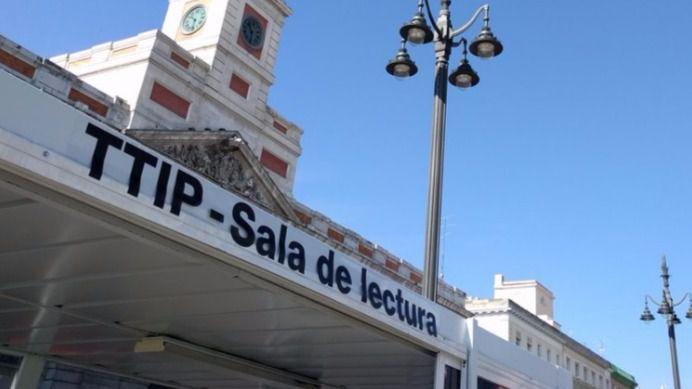 Greenpeace expone en Sol las filtraciones del TTIP