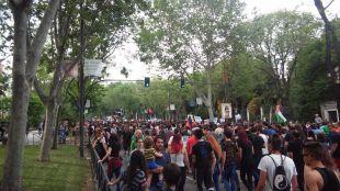 Marchas de extrema derecha y antifascistas coinciden en el centro