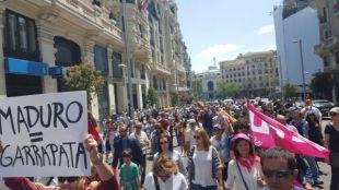 Opositores venezolanos recorren Madrid contra la