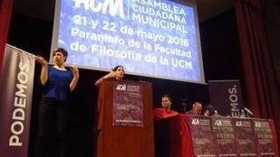 Bescansa cierra la asamblea de Podemos Madrid mirando al 26-J