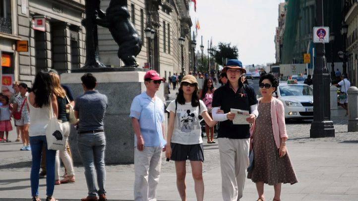 turistas chinos en Sol