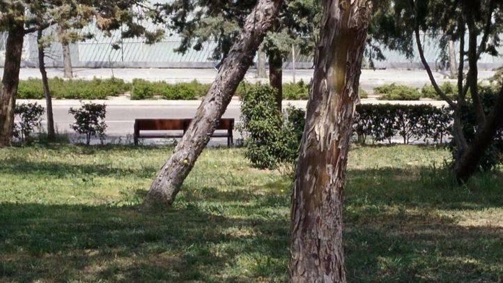 Parque de Palomeras, donde fueron detenidos dos de los tres varones. (Archivo)