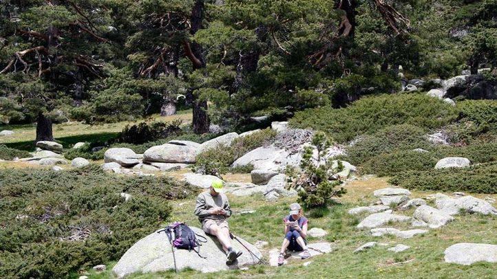 Visitantes en el Parque Nacional de la Sierra de Guadarrama