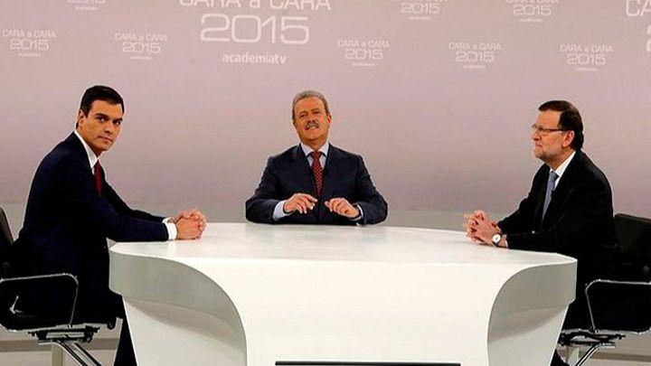 Debate entre Pedro Sánchez y Mariano Rajoy (archivo)