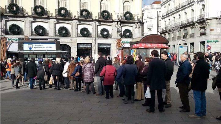 El Ayuntamiento regulará la venta de lotería en la Puerta del Sol