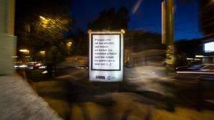 Cervantes se infiltra en lonas publicitarias por toda la capital