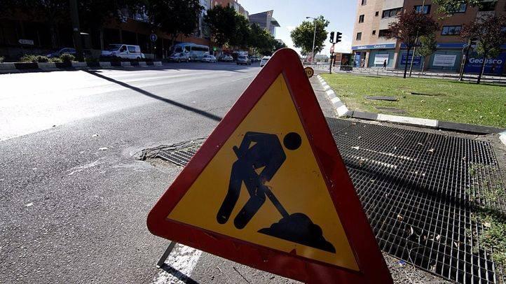 Obras de asfaltado. (Archivo)