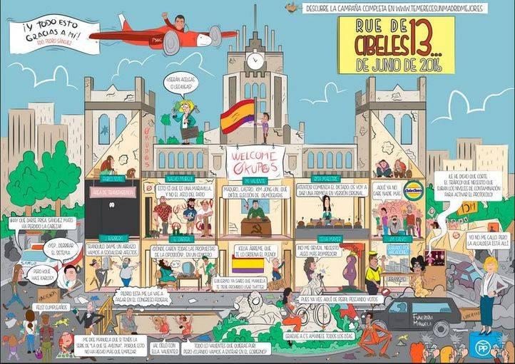 13 Rue de Cibeles: el cómic 'antiCarmena' del PP