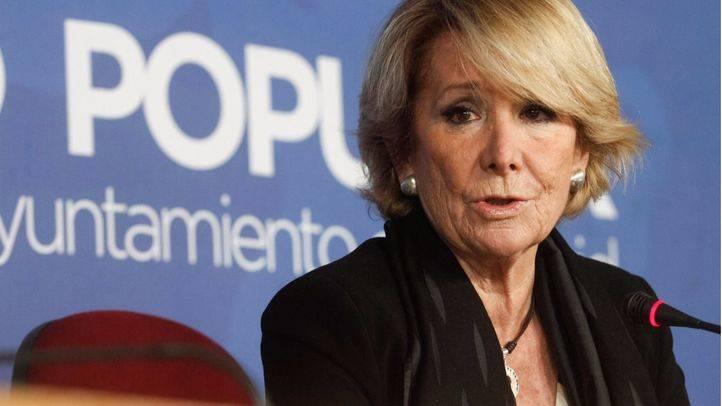 Esperanza Aguirre durante una comparecencia. (Archivo)