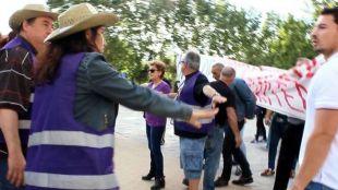 Hogar Social intenta boicotear un mitin de Unidos Podemos
