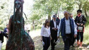Van Grieken, en la Bienal de Escultura del Valle de los Sueños en la Sierra Norte