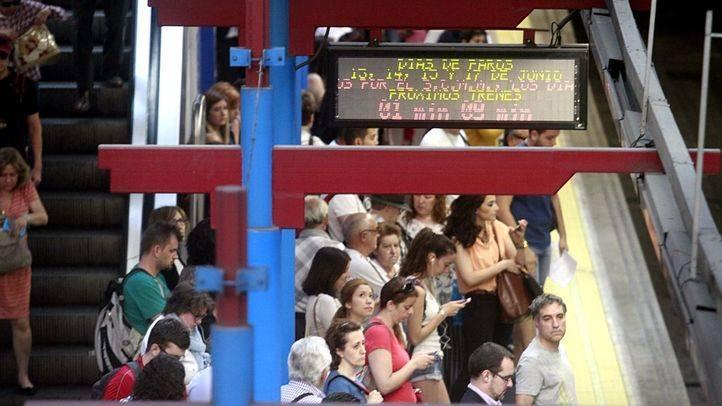 El metro en un día de paros parciales (Archivo)