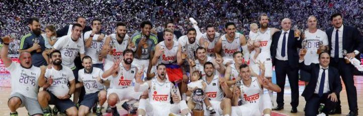 El Real Madrid, campeón de la Liga ACB tras derrotar al Barça