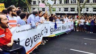 Cabecera de la manifestaci�n del Orgullo Gay 2015