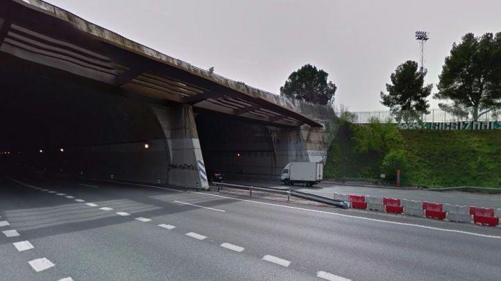 Cortan durante horas el túnel de O'Donnell por riesgo de desprendimiento
