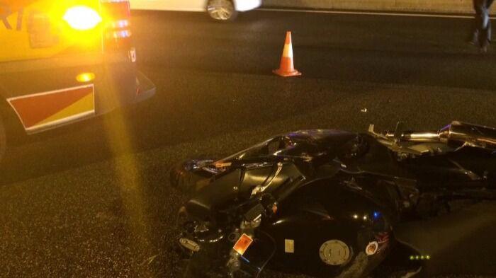 Muere un motorista de 57 años en un choque en la A-2