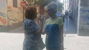 Esperanza Aguirre, de camino al colegio electoral
