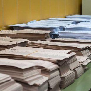 Papeletas de las elecciones (archivo)