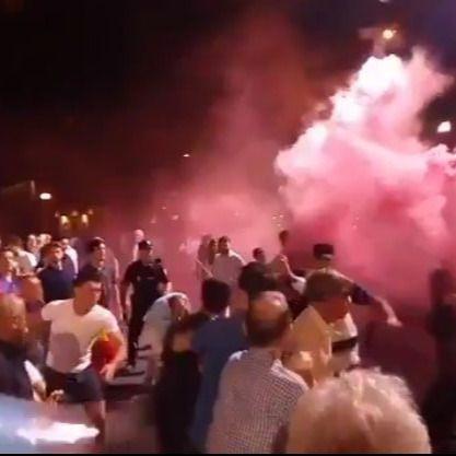 Detienen a seis miembros de Hogar Social Madrid por intentar boicotear la celebración del PP