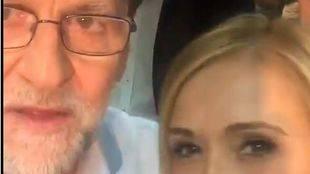 Cáptura del vídeo de Rajoy y Cifuentes