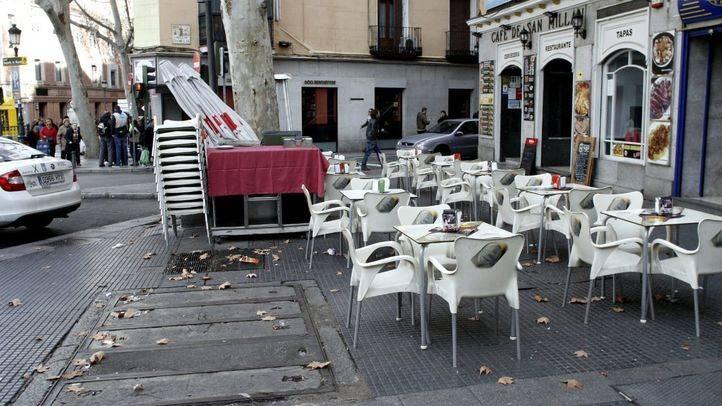 Terraza en la plaza de la Cebada.