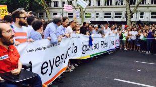 Cabecera de la manifestación del Orgullo Gay 2015.